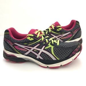 Black/pink ASICS gel-flux 3 Sneaker